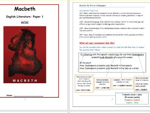 Macbeth Resource Pack