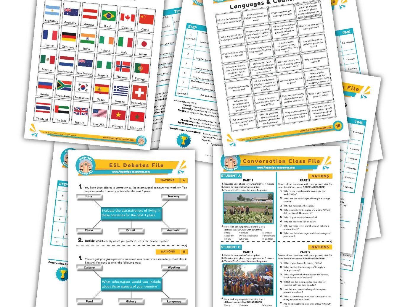 Countries & Nationality Unit - ESL Activity Bundle