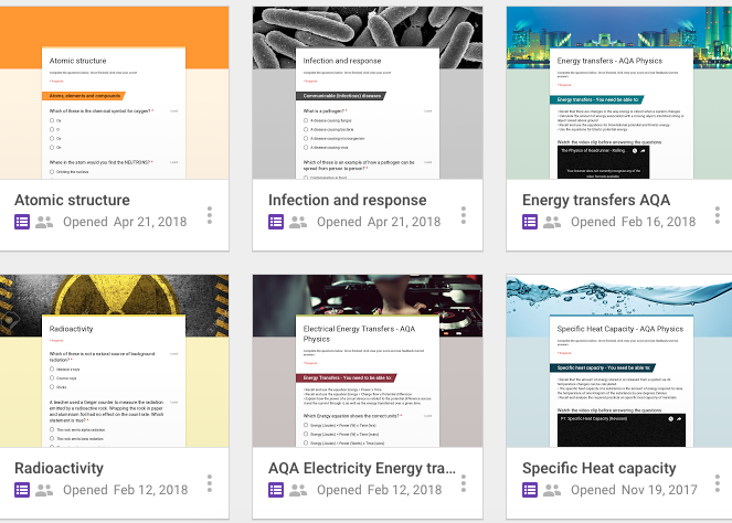 AQA GCSE Combined Science resources