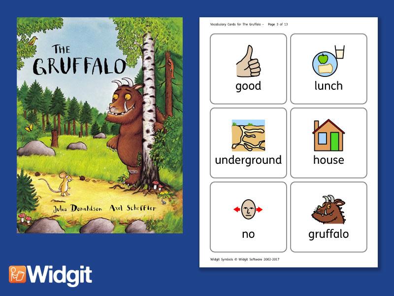 The Gruffalo - Big Book Flashcards with Widgit Symbols