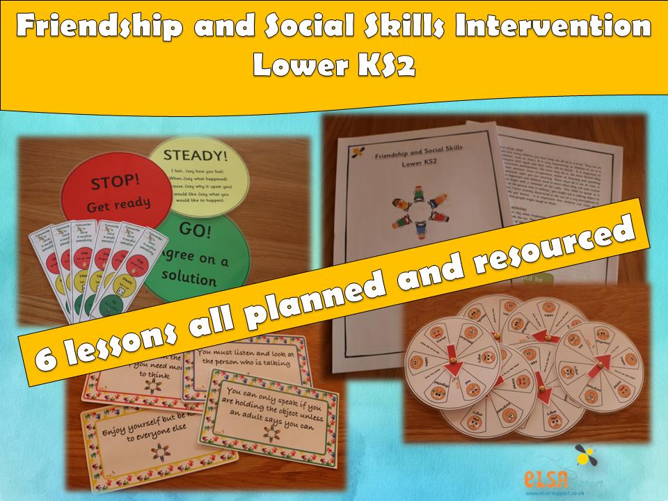 ELSA SUPPORT - Friendship and Social Skills Lower Ks2 Intervention, EMOTIONS,