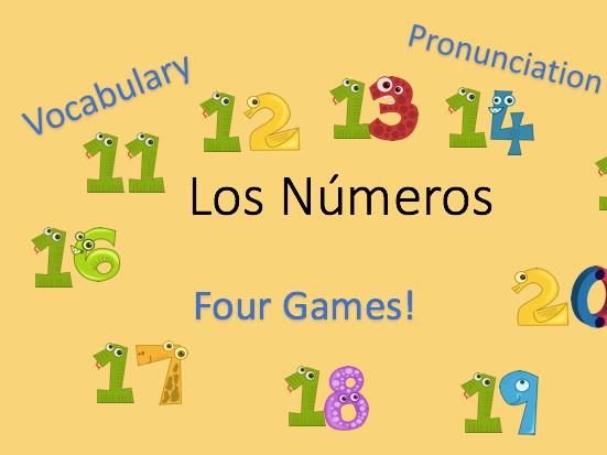 KS2/KS3 Spanish - Numbers 11 - 20  - Los Números 11 - 20