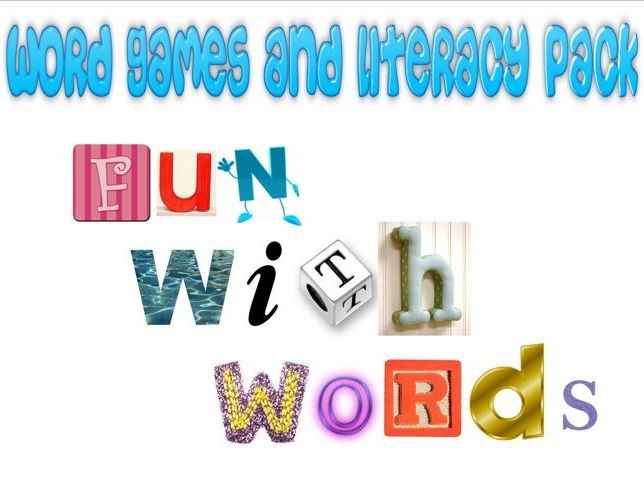 Word Games and Literacy pack