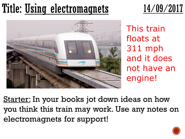 Uses of electromagnets - complete lesson (KS3)