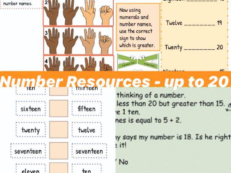 Year 1 Numbers to 20 Resources