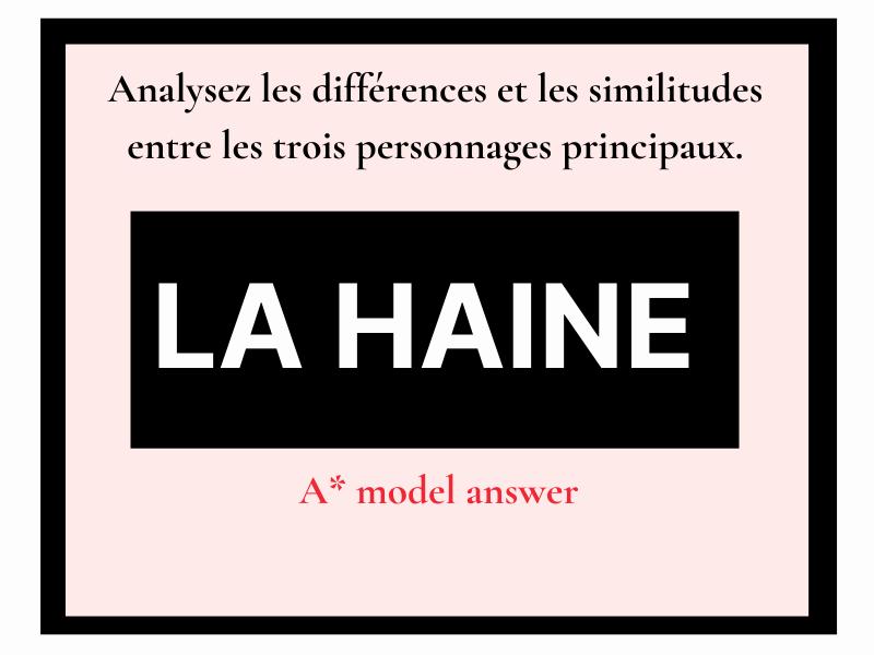 La Haine différences similitudes (essay question) French A level