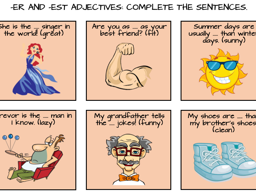 Short Adjectives: Comparative and Superlative Forms