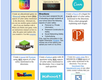 Digital Citizenship Project Choice Board