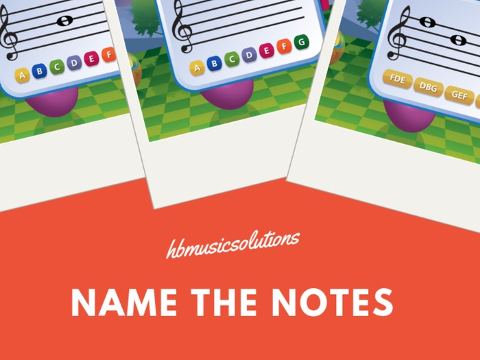 Name The Notes Music Interactive Game Activity
