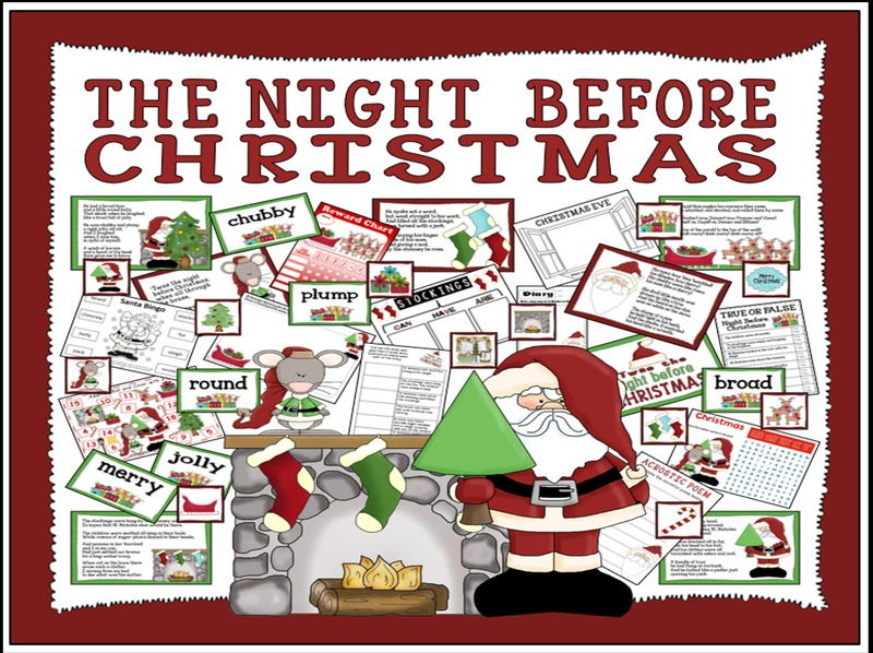 THE NIGHT BEFORE CHRISTMAS STORY TEACHING RESOURCES EYFS KS1 KS2