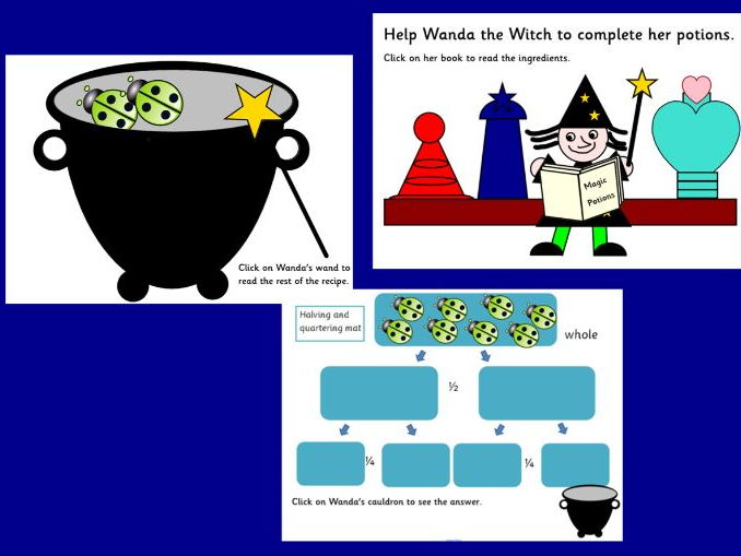 Fractions: Wanda the Witch's magic potion