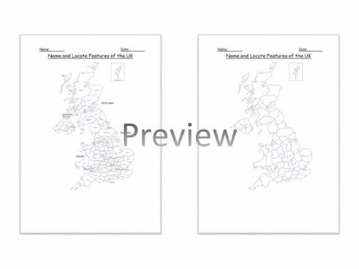 Geography: Name and Locate Counties and Cities of the United Kingdom Worksheet KS2