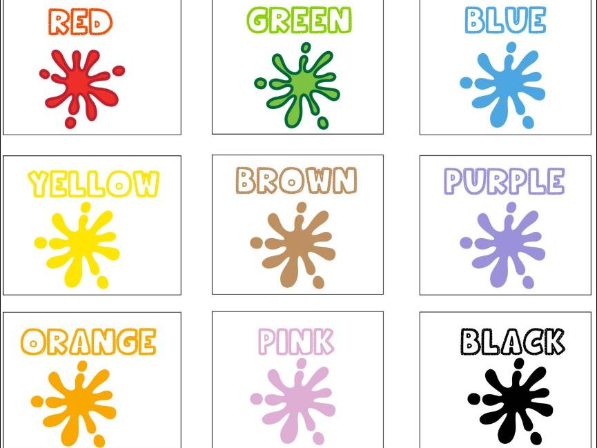 Colour Card Sorting