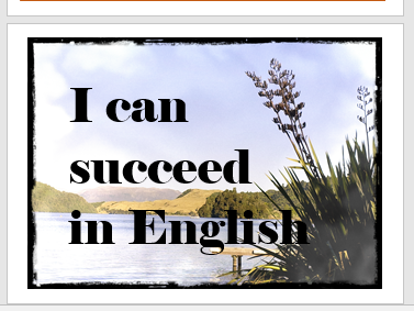 Affirmation Posters for English Classroom Décor x 10