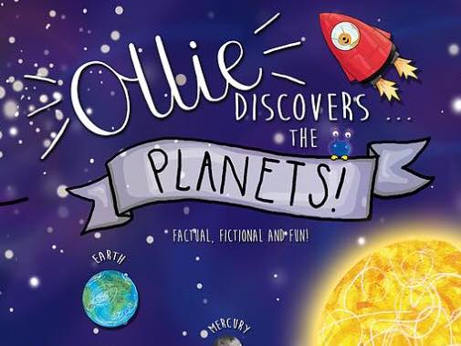 Ollie Discovers the Planets. Fact & fiction space book & Y2 resources. Free 2 week English plan