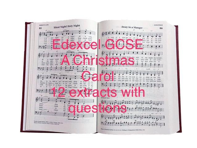 Edexcel GCSE A Christmas Carol 12 Extract Questions