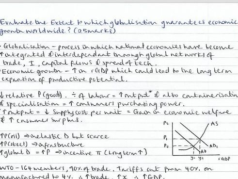 Macro Economics-practice extended exam questions with planned model answers