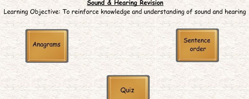 KS3 Sound and hearing revision smart notebook