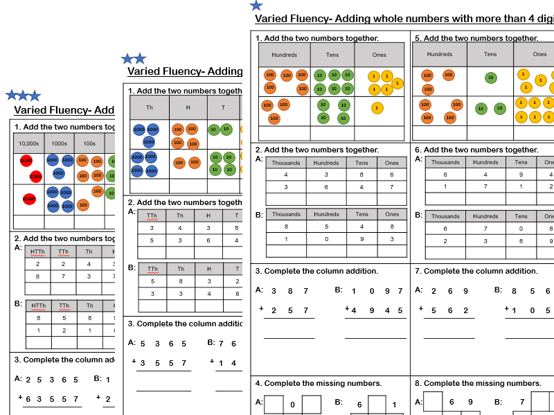 white rose maths  year   addition of whole numbers with more than  white rose maths  year   addition of whole numbers with more than   digits by lgibson  teaching resources  tes
