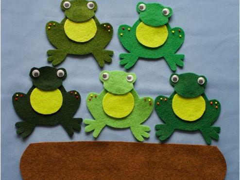 Five Little Speckled Frogs Felt Board Set Digital Pattern