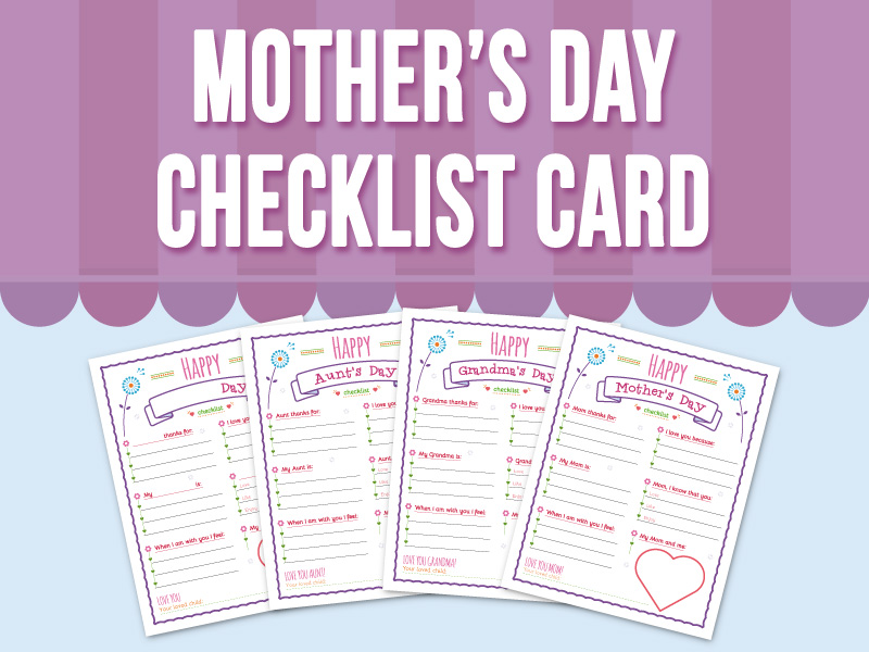 Mother's Day - Checklist Card