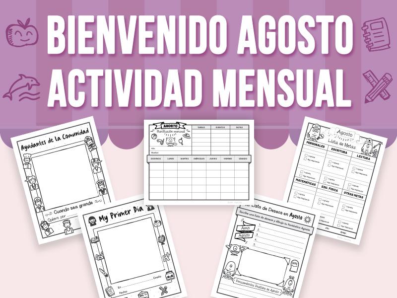 Bienvenido Agosto - Actividad Mensual - SPANISH VERSION