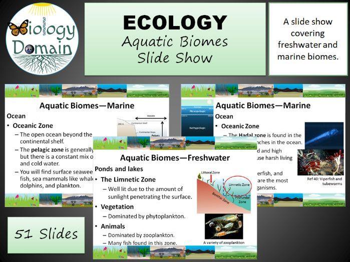 Aquatic Biomes Slide Show