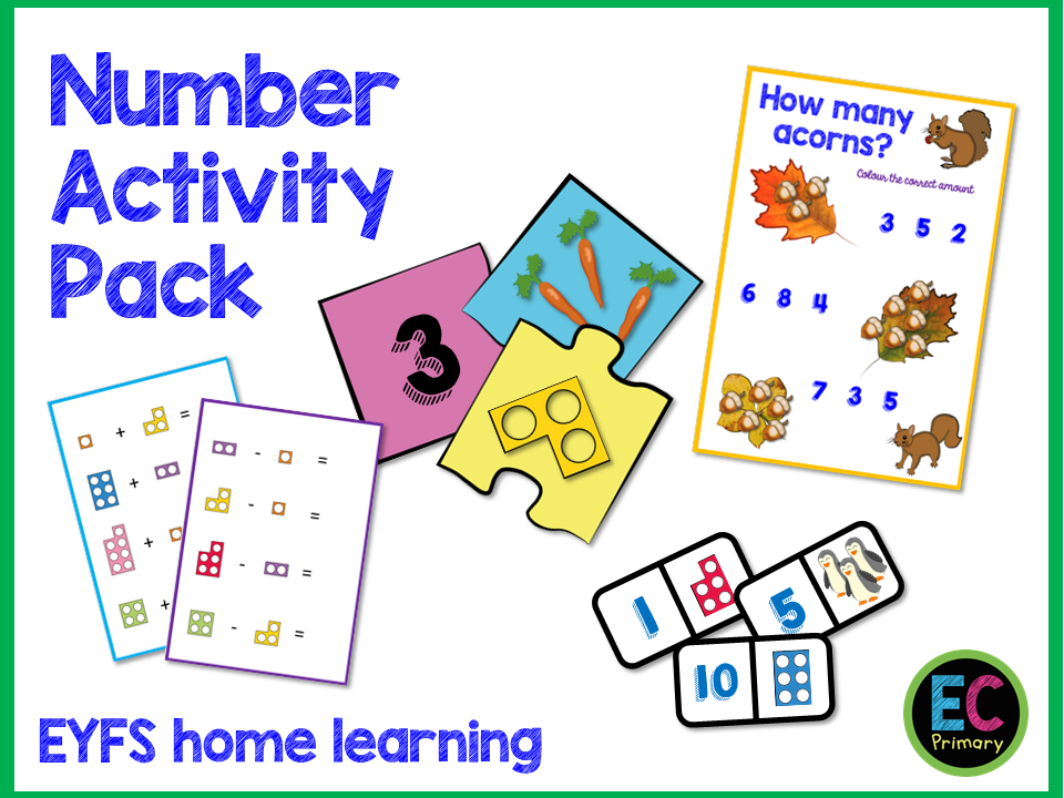 EYFS Home Learning Number Activity Pack
