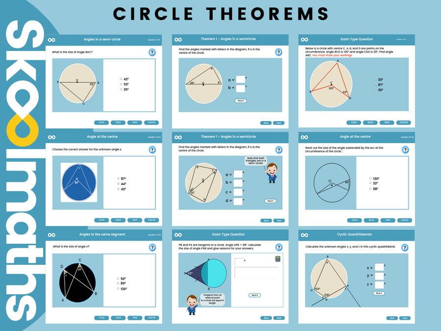 Circle Theorem - GCSE Higher