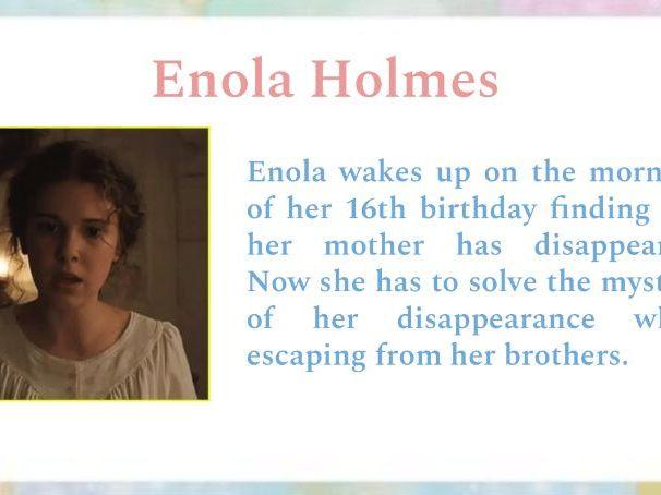 Enola Holmes on Netflix - Authentic grammar practice