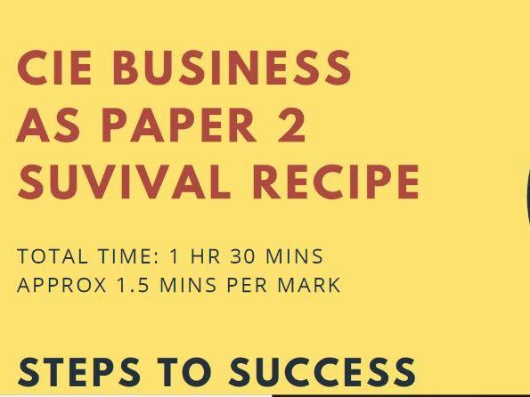 AS Paper 2 Recipe for Success