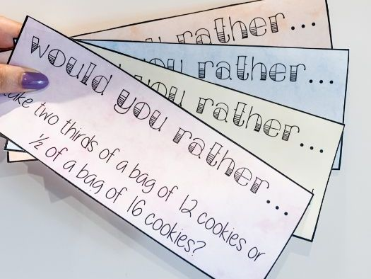 Would you rather... (Maths Discussion cards)