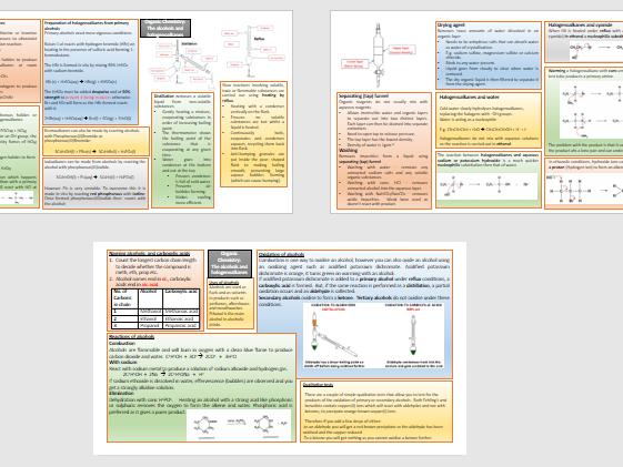 Topic 6 Organic chemistry knowledge organiser