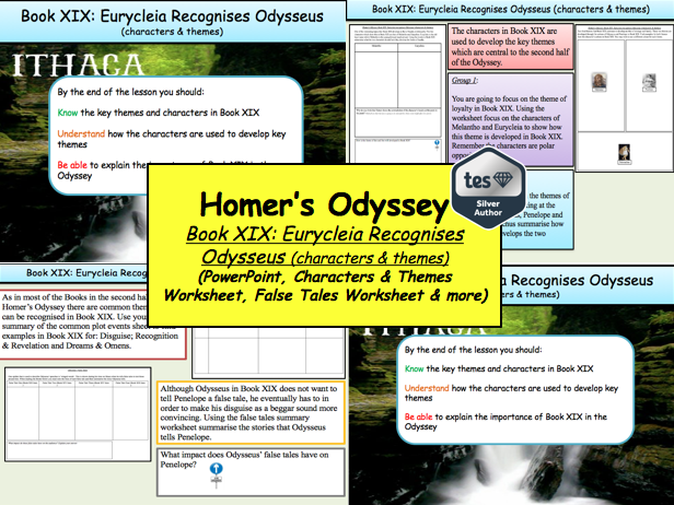 Homer's Odyssey – Book XIX: Eurycleia Recognises Odysseus (characters & themes)