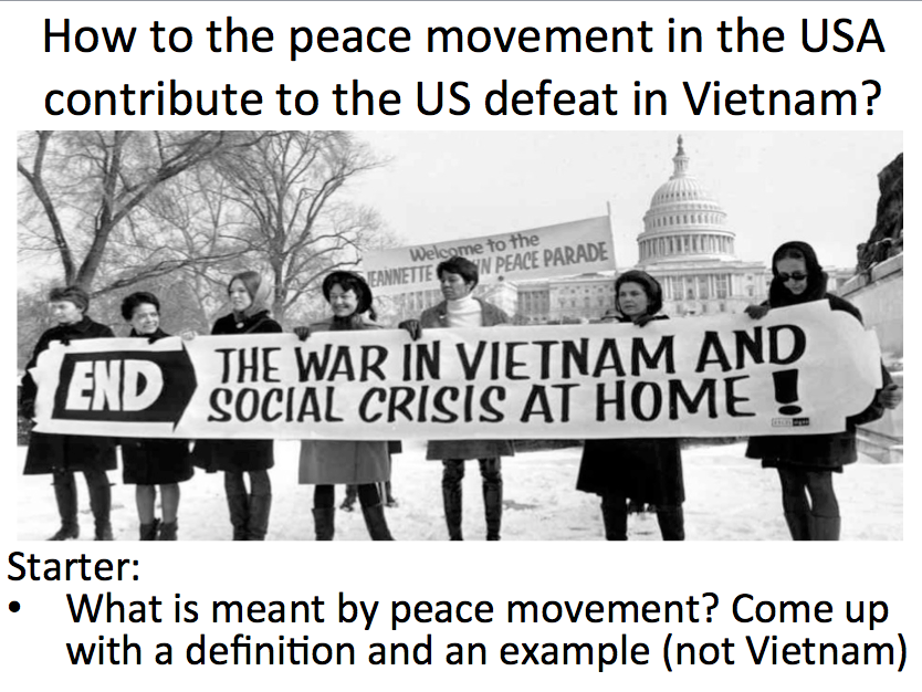 Vietnam - Lesson 4 The US peace movement