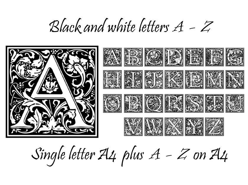 Display posters A - Z letters plus handouts - pretty floral design