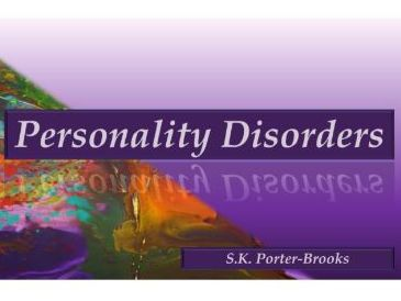 Personality Disorder: Presentation and Booklet Handout  (Health and Social Care)