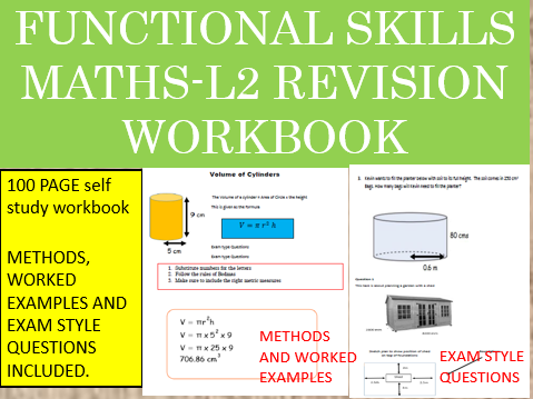 Functional Skills Maths-L2 Revision Workbook ANSWERS INCLUDED