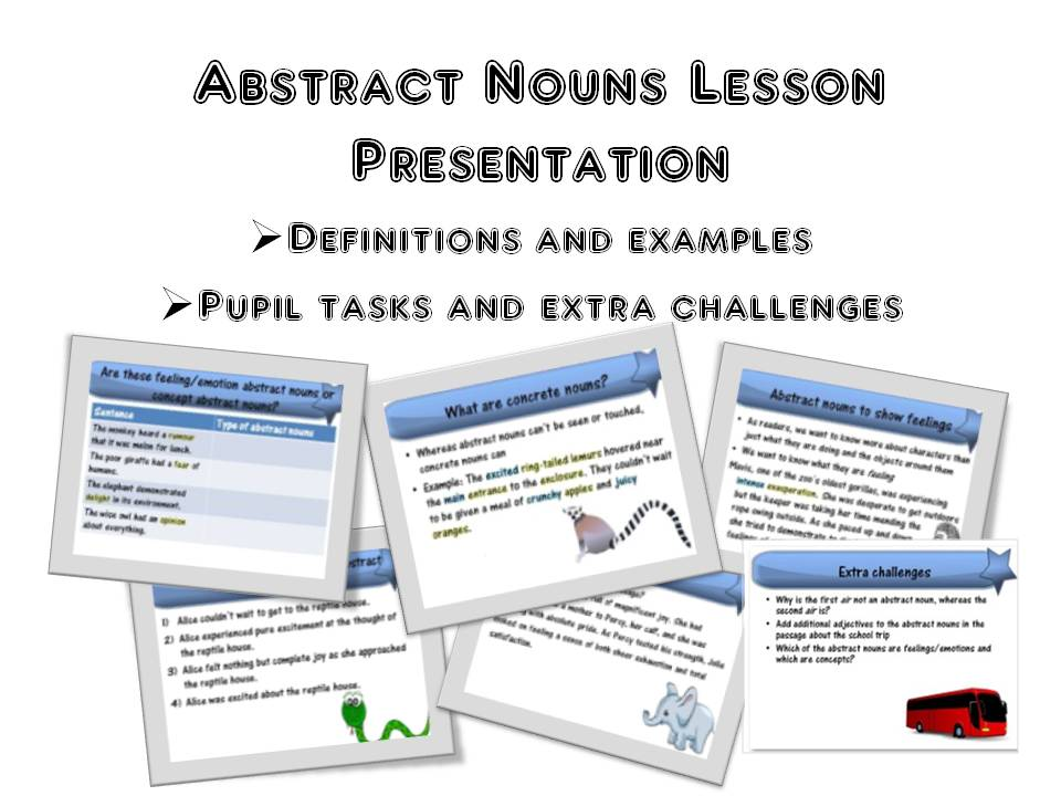 Abstract Nouns Lesson Presentation