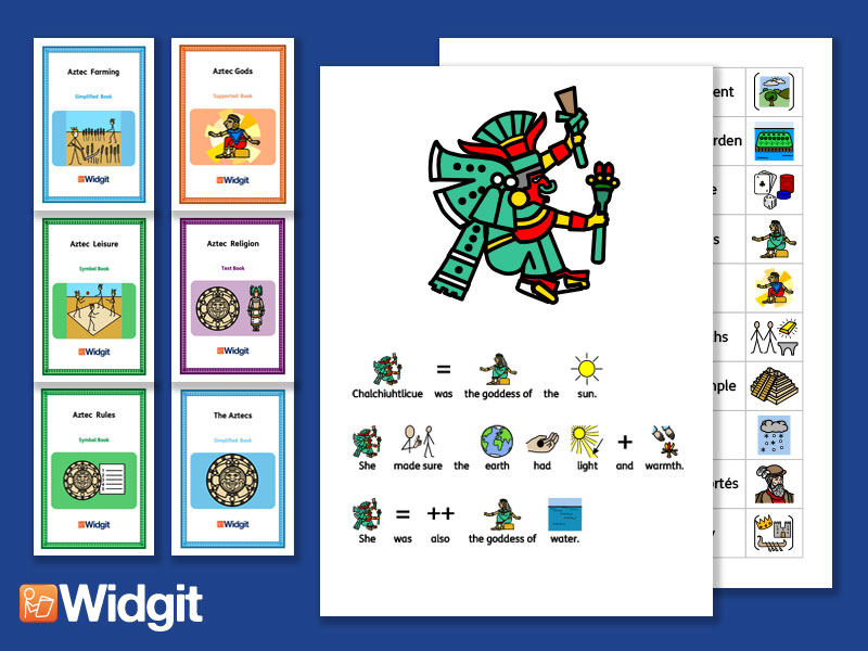 The Aztecs Bundle - History Books and Activities with Widgit Symbols