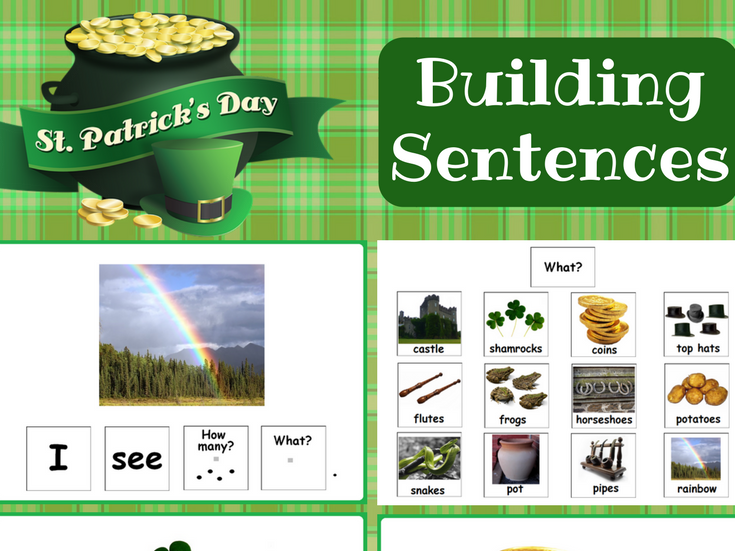 St. Patrick`s Day Building Sentences for Speech Therapy