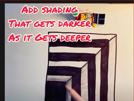 Optical illusion Drawing idea. Red Nose Day, Draw something funny and easy!