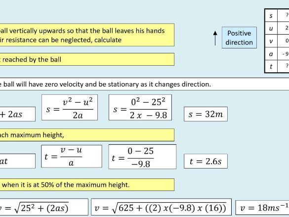 A level Physics (7.6) More Calculations on motion along a straight line Kinematics - (On the move)