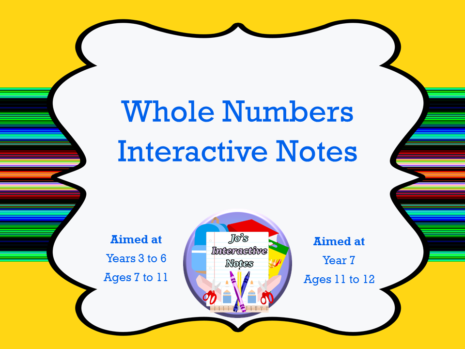 Whole Numbers Interactive Notebook