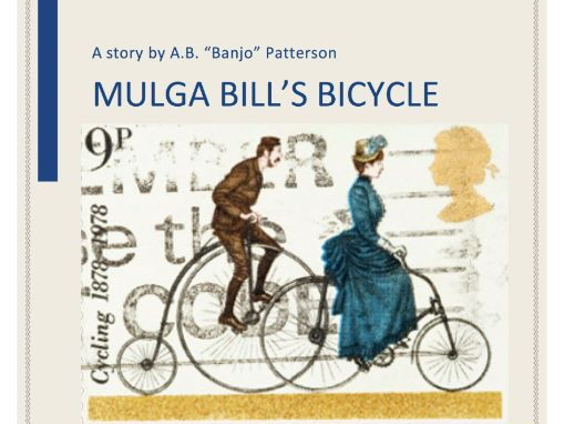 mulga bills bicycle techniques Read: mulga bill's bicycle 13 • structure: identify the following – 1 identify the rhyming patterns (use a blue, green and yellow pencil) 2 highlight where repetition has been used 3 put an ( ) near the orientation, complication and resolution 4 identify who you think the targeted audience is and what was.