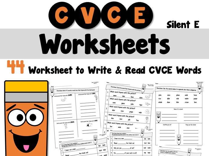 Silent e Worksheets CVCE