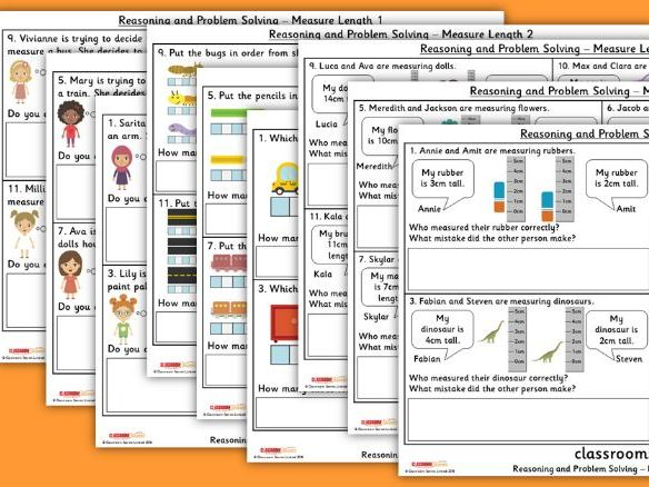 Year 1 Measure Length Spring Block 3 Reasoning and Problem Solving Pack