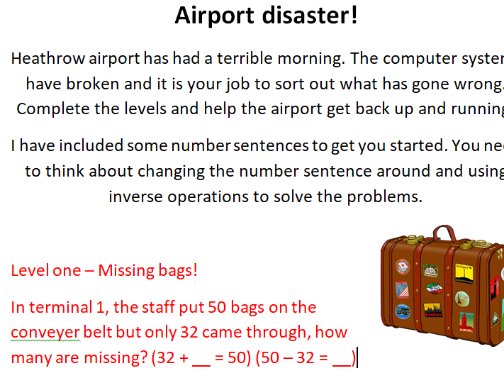 Inverse Operation Investigation - Airport Disaster!