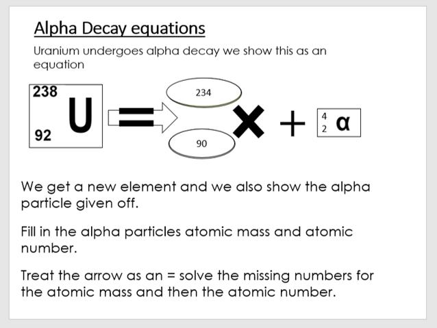 AQA P4 Lesson 4 - Decay Equations (KS4)