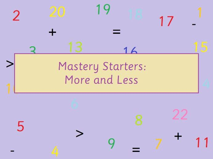 KS1 Maths More and Less Mastery Starters